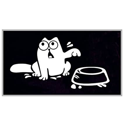 """Car Sticker Vinyl Simon/'s Cat /""""Feed Me!/"""" Home//Computer Wall Laptop Fuel Decal"""