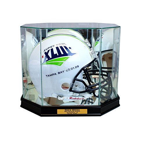 Perfect Cases Octagon Football Helmet Display Case (Black w -