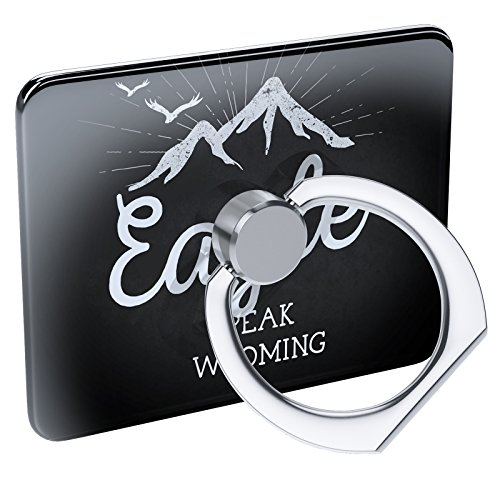 Cell Phone Ring Holder Mountains chalkboard Eagle Peak - Wyoming Collapsible Grip & Stand Neonblond (Wyoming Eagle)