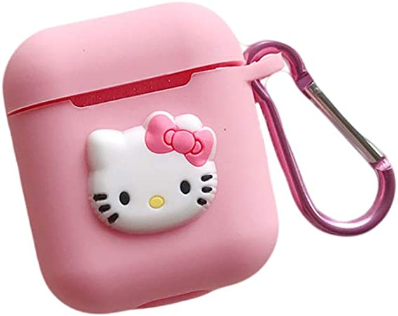 Cradifisho Coque AirPods,Hello Kitty Étui Protecteur AirPods