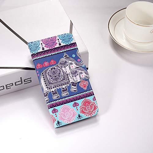 Désign S7 Faux Caoutchouc Hut Pare Tribal Coque Galaxy Samsung Hybride Portef Éléphant chocs Construit Stand Magnétique 3d Cozy Prime Effet Créatif Flip En Mode Pu Modèle Cuir Folio Housse Souple 174ntH