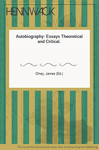 Autobiography: Essays Theoretical and Critical (Princeton Legacy Library)
