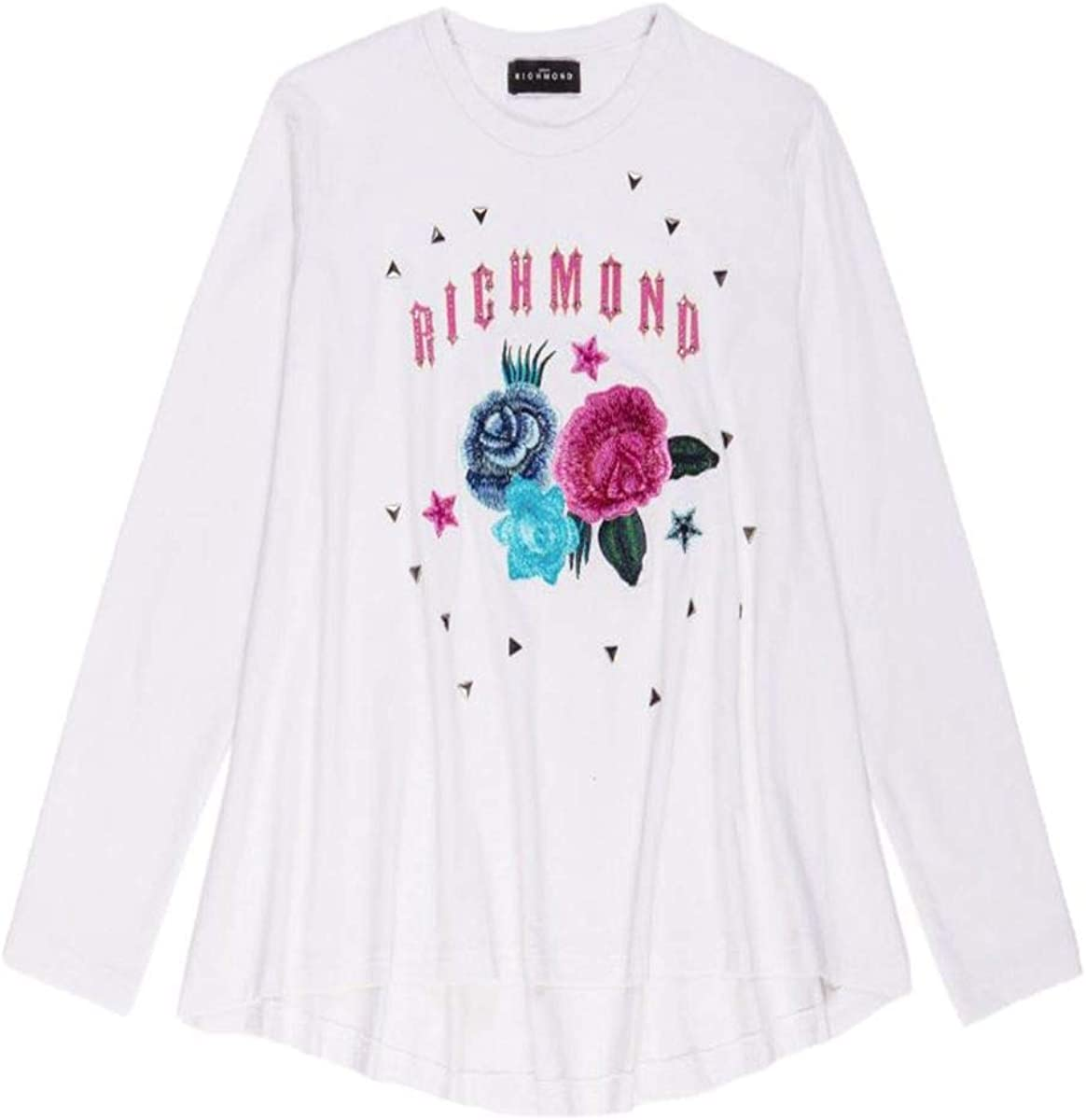 RICHMOND KIDS Camiseta para niña y niño, 2, Blanca: Amazon.es ...