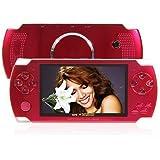 Reproductor MP5 Portátil 4GB HD TFT de 4.3 pulgadas Pantalla con FM Radio Compatible con USB/SD/TF Tarjeta, rojo