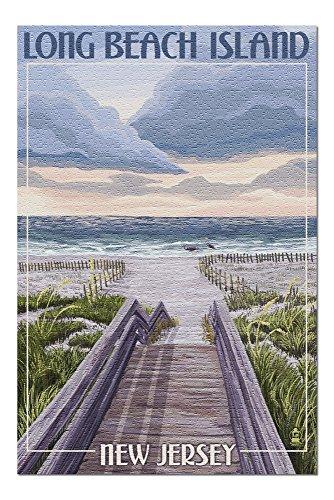 Long Beach Island, New Jersey - Beach Boardwalk Scene (20x30 Premium 1000 Piece Jigsaw Puzzle, Made in USA!)