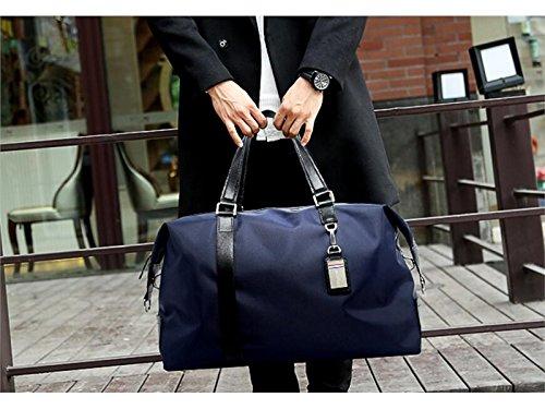 OHlive Grosse Kapazität Outdoor Große Weekender Kapazität Nylon Sporttasche Sport Reisetasche Weekender Große Seesack für Männer und Frauen (Blau) ec6922