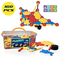 USA Toyz STEM Engineering Building Kids Toys - QUARKS 160 Pc STEM Building Educational Toys w/ Multilink Spheres for KidsToys Construction