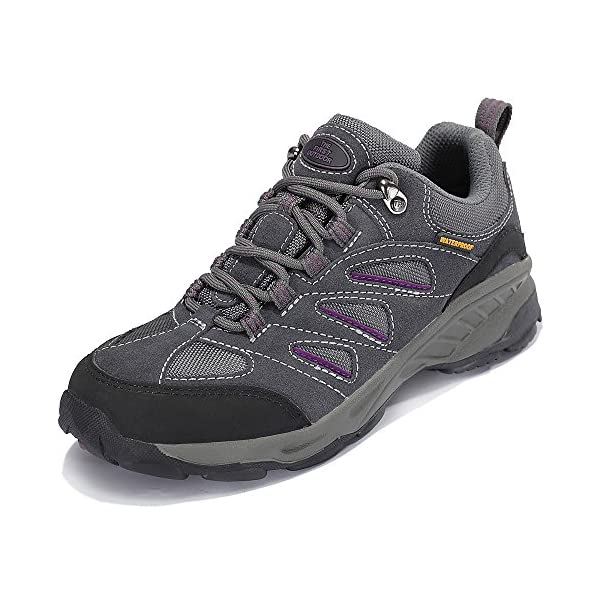 The First Outdoor Women's Air Cushion Hiking Shoe Breathable Running Outdoor Sports Shoes Sneakers, Gray (US 7)