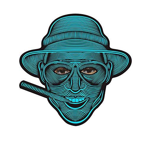 Halloween LED Light Airsoft Full-Face Mask Voice LED