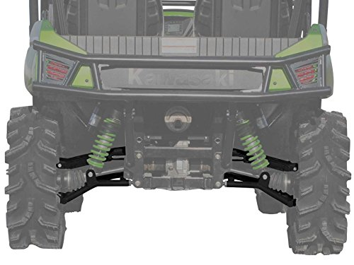 SuperATV High Clearance Offset Rear A-Arms for Kawasaki Teryx/Teryx 4 (See Fitment) - Black