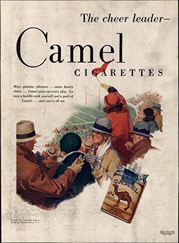 Football Cheer leaders Game Camel Cigarettes Smoking 1929 vintage Advertisement (Memorabilia Cigarettes Camel)