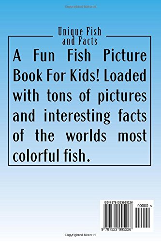 unique fish and facts a fun fish picture book for kids s a knight 9781523995226 amazoncom books - Colorful Fish Book