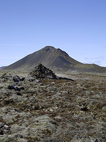 Hill with barren land against the blue sky. Iceland 30x40 photo reprint by PickYourImage