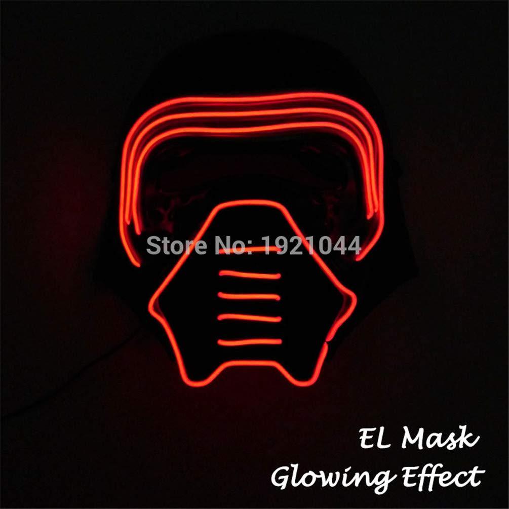 Amazon.com: TZFLEDMAS Glowing Party Mask LED Light Up Mask ...