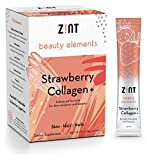 Strawberry Hydrolyzed Collagen Powder Packets : Anti Aging Sugar Free Beauty Collagen Peptides
