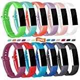 sunyfeel Compatible with Fitbit Alta HR and Alta Band Replacement, 13 Colors Fashion Sports Silicone Personalized Replacement Bracelet with Metal Clasp for Fitbit Alta HR/Alta
