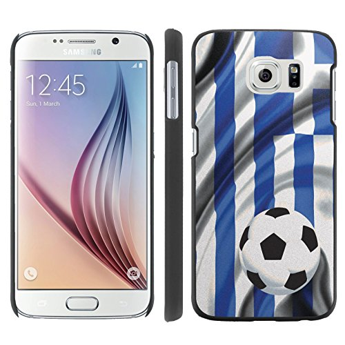 Price comparison product image Mobiflare,  Slim Clip-on Phone Case,  for [Samsung Galaxy S6 G920] - Greece Flag with Soccer Ball