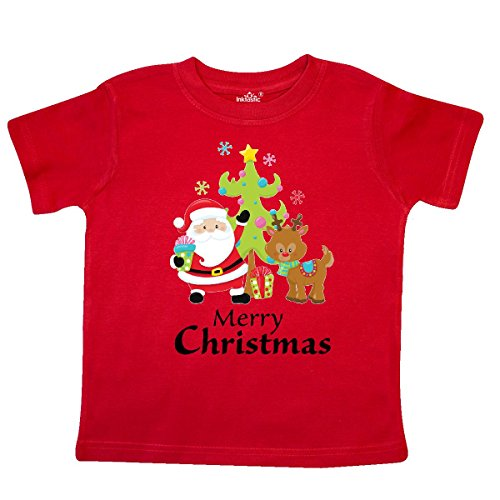 inktastic Merry Christmas Toddler T-Shirt 4T Red