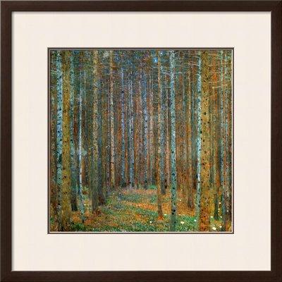 Tannenwald Pine Forest, c.1902 Framed Art Poster Print by Gustav Klimt