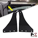 hummer h3 lights - 4XBEAM Upper Roof Windshield Mounting Brackets for 50 inch Straight/ Curved LED Light Bar Fit 2006 2007 2008 2009 2010 Hummer H3