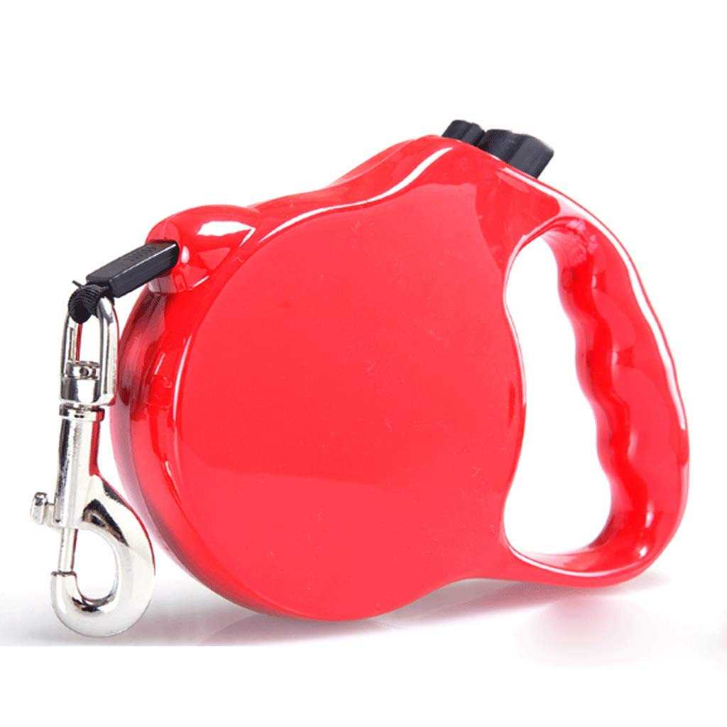 RED L RED L 6 M Telescopic Traction Rope Pet Leash (color   RED, Size   L)