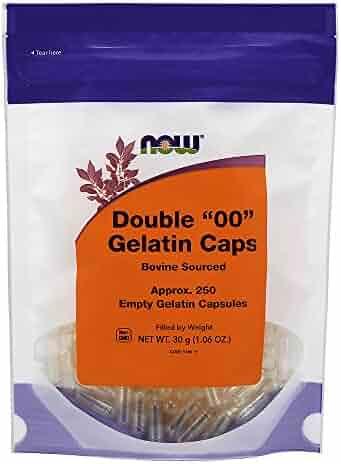NOW '00' Gel Capsules, 250 Empty Capsules