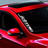 "Noizy Graphics 20"" JDM #4 Street Racing Side Windshield Banner Car Sticker Truck Vinyl Decal Color: White"