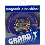 Grabbit Sewing Tools Blue Feather Magnetic Pincushion, Purple