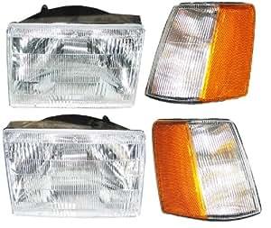 93-98 Jeep Grand Cherokee Headlight and Parking light Package LH RH Headlights and Parking lights 93 94 95 96 97 98