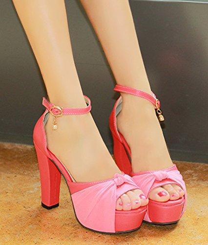 Plateforme Cadeau Aisun Peep Femme Sandales Sexy Rouge Toe XwqXIr