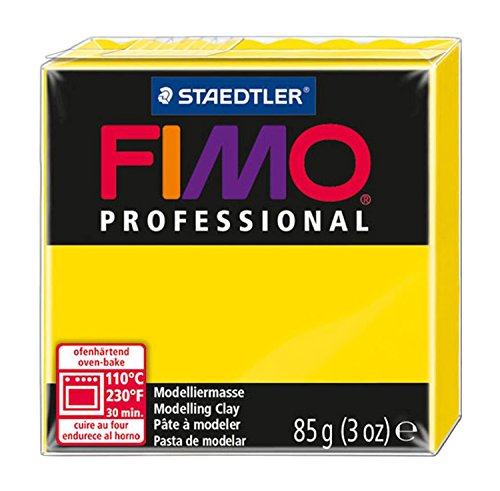 (Staedtler Fimo Professional Soft Polymer Clay, 3-Ounce, True Yellow)
