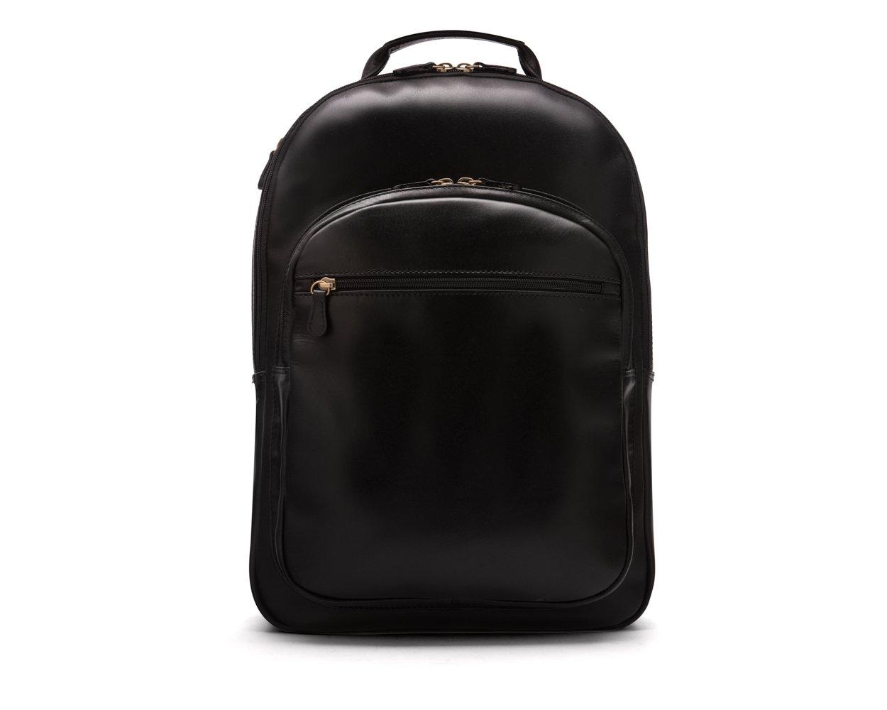 SAGEBROWN Black Cambridge Backpack