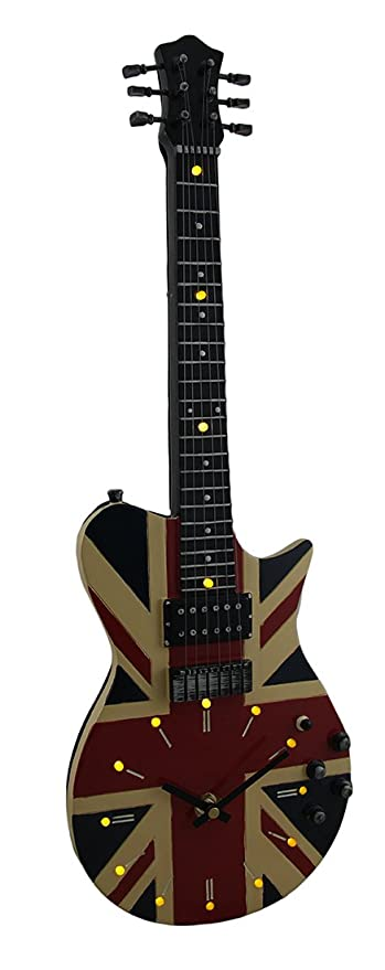 Resina Reloj de pared relojes ensartar tiempo de bandera Union Jack Británica 16 LED de pared