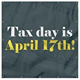CGSignLab | ''Money -Tax Day -Square'' 9oz. Wind-Resistant Outdoor Mesh Vinyl Banner with Reinforced Hems & Metal Grommets | 8'x8'
