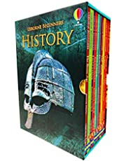 Usborne Beginners History 10 Books Collection Box Set (Stone Age, Iron Age, Egyptians, Ancient Greeks, Romans, Vikings, Castles & MORE!)