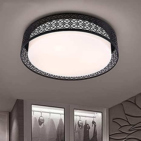 Lámpara de techo LED negro salón lámpara minimalista moderno ...