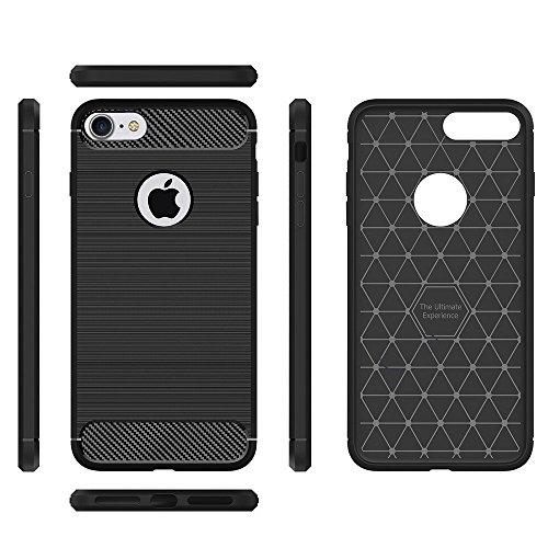 Escada Crystal - iPhone 7 case 2 for 1 Escada One Stylish carbon fiber pattern New Slim Design Anti-fingerprint shockproof protective bumper included a Crystal-clear transparent shock absorbent slim bumper case