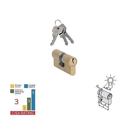 CISA 0g305.02 Medio Cilindro Perfil Europeo 40 mm 30.10 leva ...