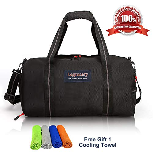 8e3e70e3d05 La Gracery Sports Gym Bag with Shoes Compartment   Dry Wet Separation Layer  Waterproof Travel Duffel