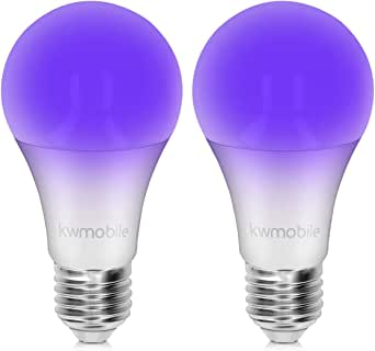 kwmobile Set de 2 Bombillas LED E27 de luz ultravioleta - Bombilla ...