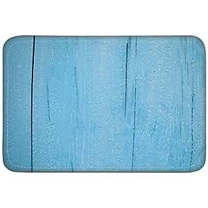 Antecedentes textura madera azul turquesa personalizados alfombrillas de goma antideslizantes Doormats cocina Decor alfombrillas alfombras 23,6x 15,7pulgadas por annew