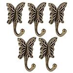 Pack of 6 Antique Bronze Butterfly Wall Door Hooks Hanger Clothes Coat Hat Holder