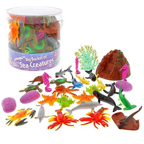 Ocean Sea Creature Action Figures - Big Bucket of Sea Creatu...