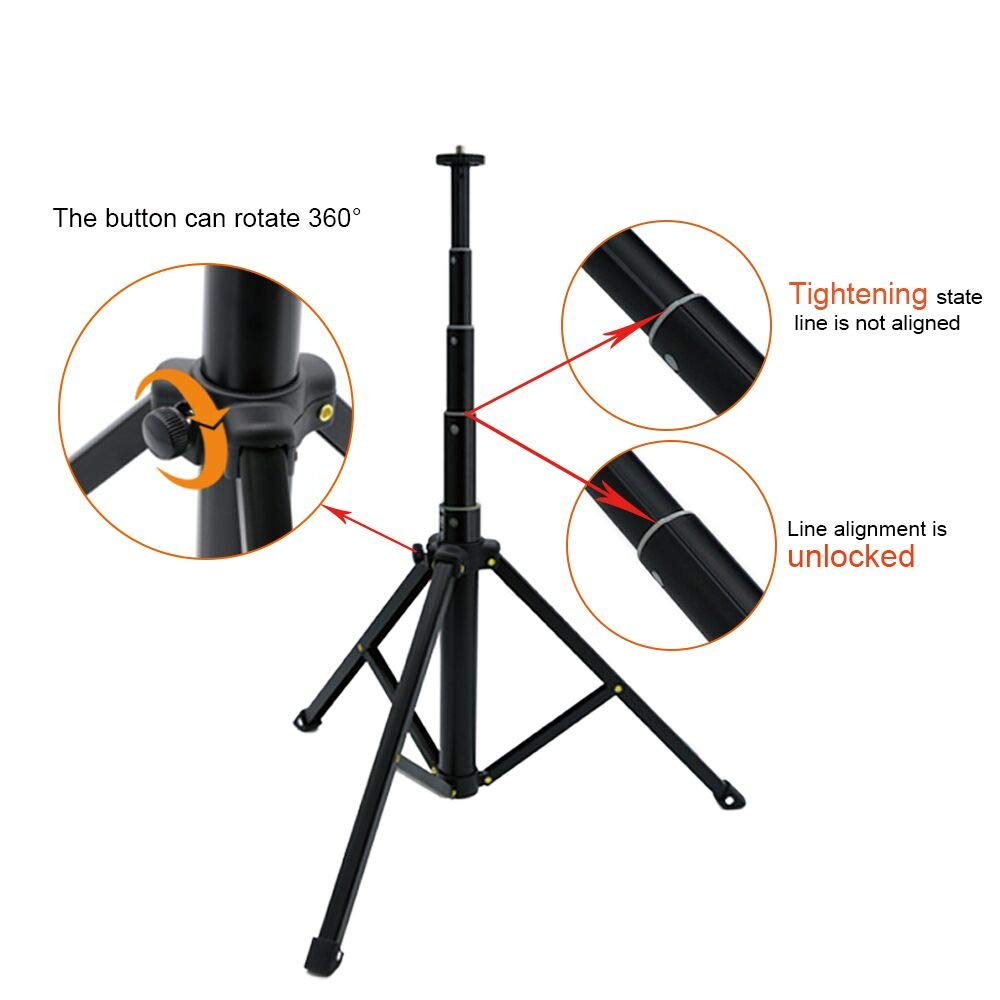 10'' Selfie LED Ring Light with Tripod Stand &Cell Phone Holder Desktop Lamp Mini Led Camera Light for YouTube Video and Live Makeup/Photography by COOSPIDER (Image #6)