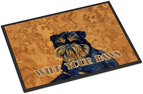 Caroline s Treasures LH9462JMAT Brussels Griffon Wipe Your Paws Indoor or Outdoor Mat 24×36, 24H X 36W, Multicolor