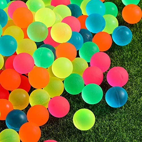 Pangda 120 Pieces Bouncy Balls - Colorful Bouncing Balls Bulk Party Bag Filler, 0.88 Inches in Diameter for Party Favors, Bag Stuffers, Fun, Toy, Gift, Prize -