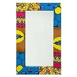 NOVICA Animal Themed Cotton Glass Wall Mounted Mirror, Multicolor 'Asasaawa'