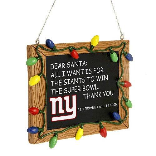 New York Giants Resin Chalkboard Sign Ornament (Ny Giants Ornaments)