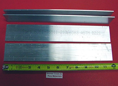 4 Pieces 1/8″ X 2″ ALUMINUM 6061 FLAT BAR 12″ long .125″ Plate New Mill Stock