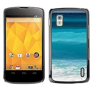 Be Good Phone Accessory // Dura Cáscara cubierta Protectora Caso Carcasa Funda de Protección para LG Google Nexus 4 E960 // Ocean Sea Surf Summer Waves Tropical